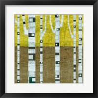 Framed Fall Birches