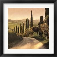Framed Country Lane, Tuscany