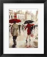 Framed Parting on a Paris Street