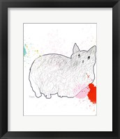 Framed Kitty in Repose