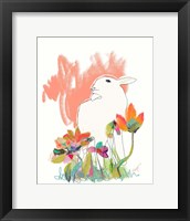 Framed Lamb and Flowers