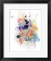 Framed Lavender Wildflower Explosion