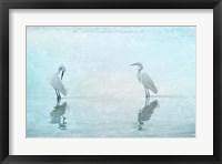 Framed White Cranes