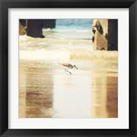 Framed Walking on The Beach