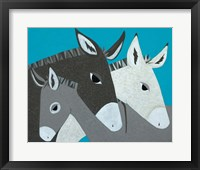 Framed Donkey Family