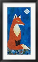 Framed Fox Under Diamond Moon