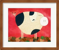 Framed Pig Newton