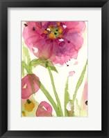 Framed Pink Wildflower