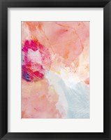 Framed Abstract Turquoise Pink No. 2