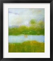 Framed Purple and Green Landscape