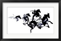 Framed Black Horses