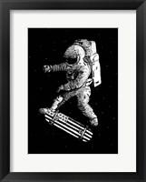 Framed Kickflip in Space
