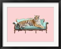 Framed Lazy Tiger