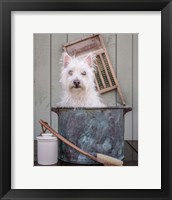 Framed Washing the Dog