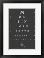 Framed Eye Chart Martini