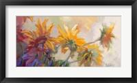 Framed Three Long Blossoms