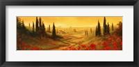 Framed Toscano Panel II