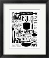Framed Culinary Love 1 (black & white)