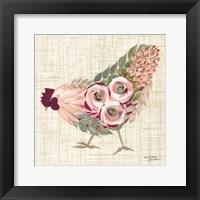 Framed Botanical Rooster II