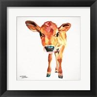 Framed Cute Little Calf