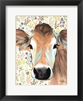 Framed Bluebell Cow