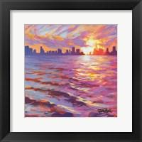 Framed Skyline Sunset