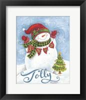 Framed Jolly Snowman