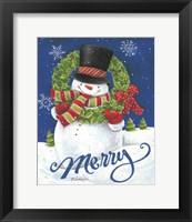 Framed Merry Snowman