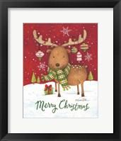 Framed Merry Christmas Reindeer