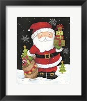 Framed Santa Claus with Presents