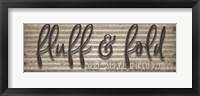 Framed Fluff & Fold