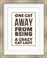 Framed Crazy Cat Lady