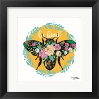 Framed Be Kind Floral Bee