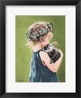 Framed Girl with Bunny