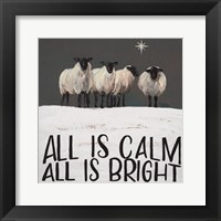 Framed All is Calm All is Bright