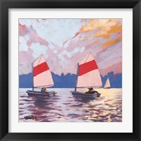 Framed Two Sailboats