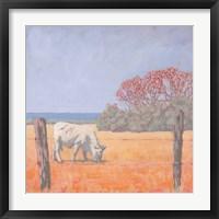 Framed Coastal Cow