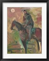 Framed Desert Horseman