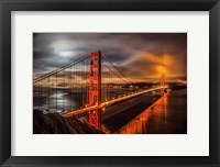 Framed Golden Gate Evening