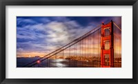 Framed N. Tower Panorama - GG Bridge