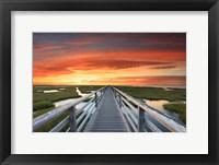 Framed Greys Beach Sunset