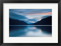 Framed Lake Crescent Dusk
