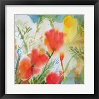 Framed Orange Poppy Reverie