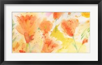 Framed Windblown Poppies #1