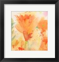 Framed Windblown Poppies #2