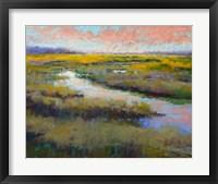 Framed Glimmer on the Marsh