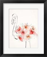 Framed Flamingo Flowers