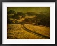 Framed Ranch Road and Oak Savannah