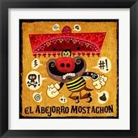 Framed Abejorro Mostachon