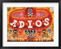 Framed Adios Amigos